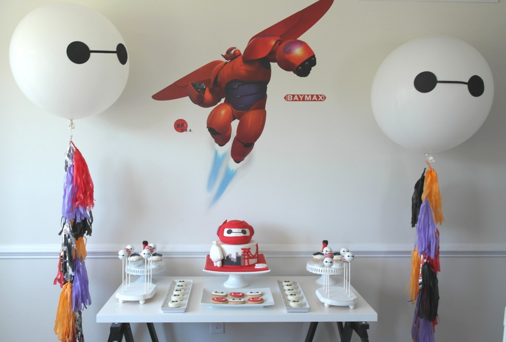 Baymax / Big Hero 6 Dessert Table Birthday Party