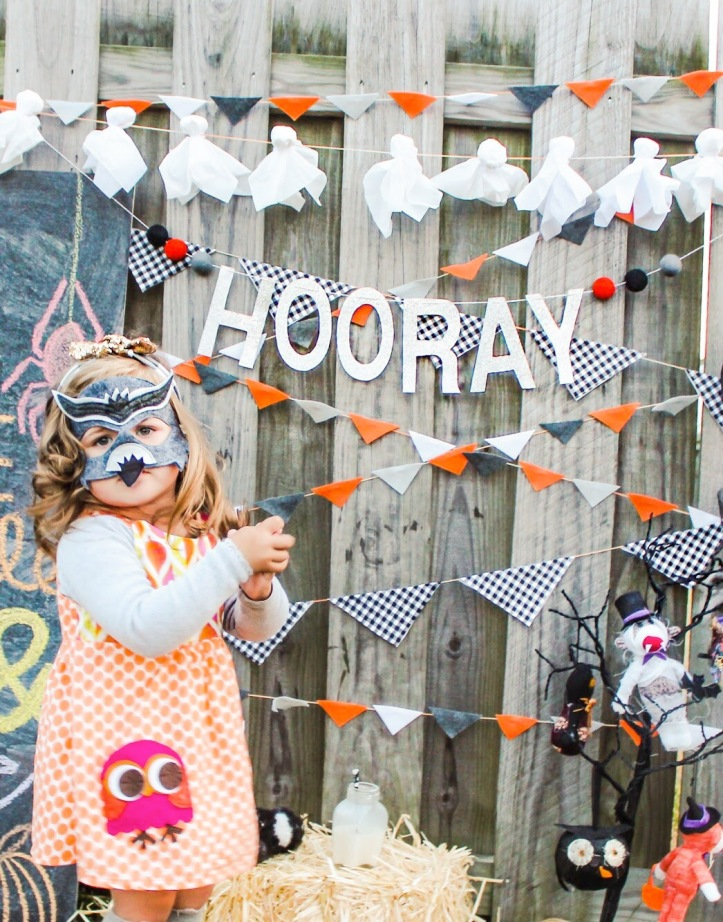 Glam Fete Hooray glitter word banner Garland \ Fall decor and Halloween Party