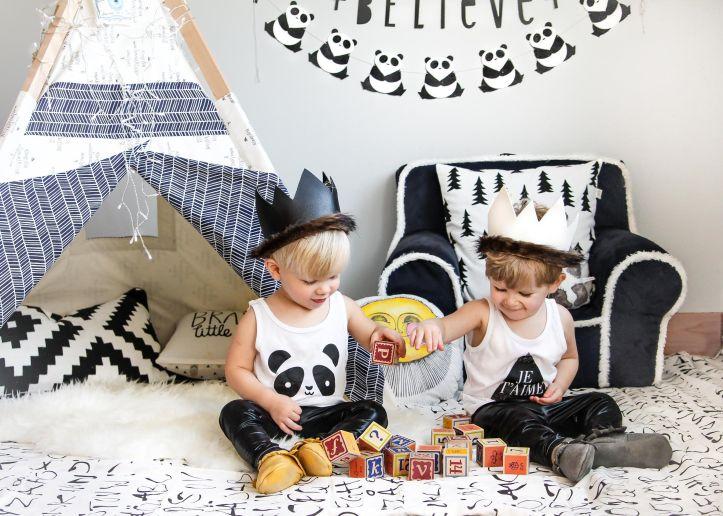Glam Fete Panda Bear Garland \ Fall decor and Halloween Party